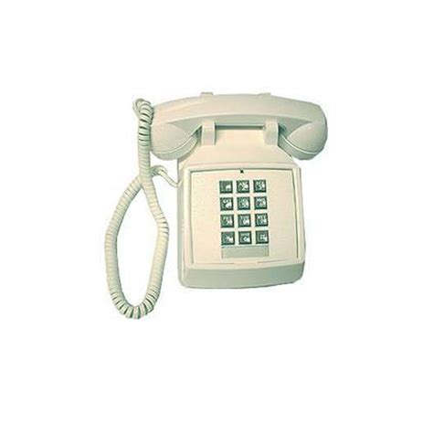 Cortelco Desk Phone by Cortelco Desk Corded Telephone With Volume White