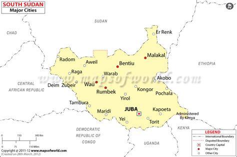 south sudan map south sudan cities map major cities in south sudan