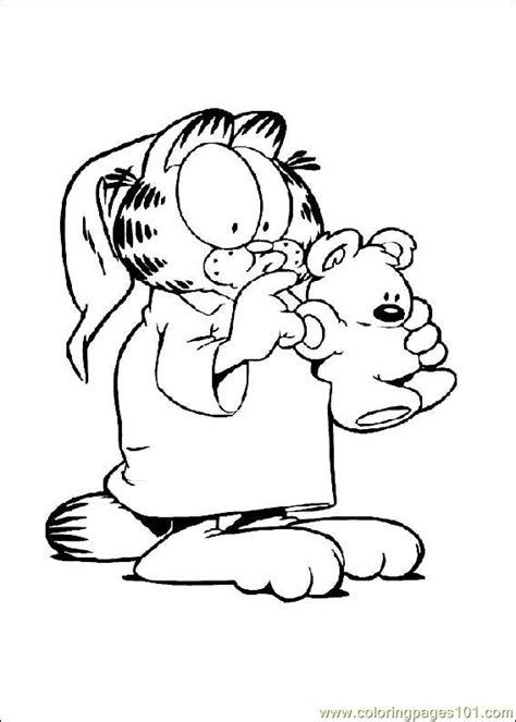 printable garfield bookmarks coloring pages garfield 004 cartoons gt garfield free
