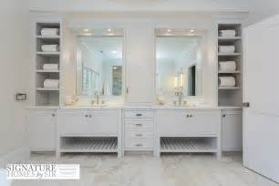 Bathroom Linen Storage Ideas by Gray Bathroom Vanity Design Ideas