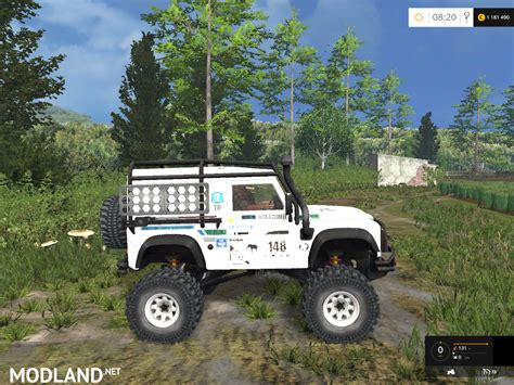 land rover dakar land rover defender dakar white v 1 0 mod for farming