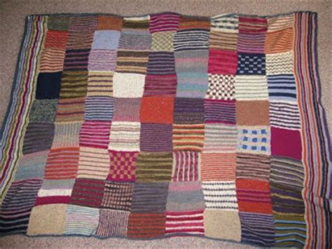 Knitted Patchwork Quilt Patterns - lazyknits knitted patchwork quilt