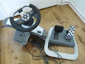 Steering Wheel For Xbox 360 With Pedals Sold Xbox 360 Steering Wheel And Pedal Board Like New