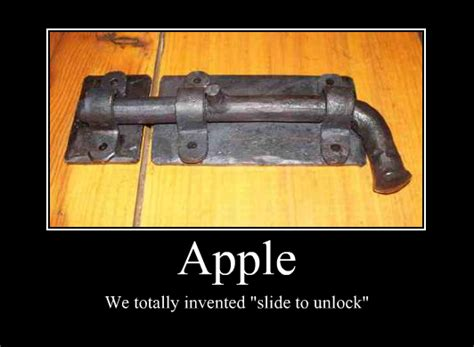 Who Invented The Door Lock by Apple We Totally Invented Slide To Unlock Weknowmemes