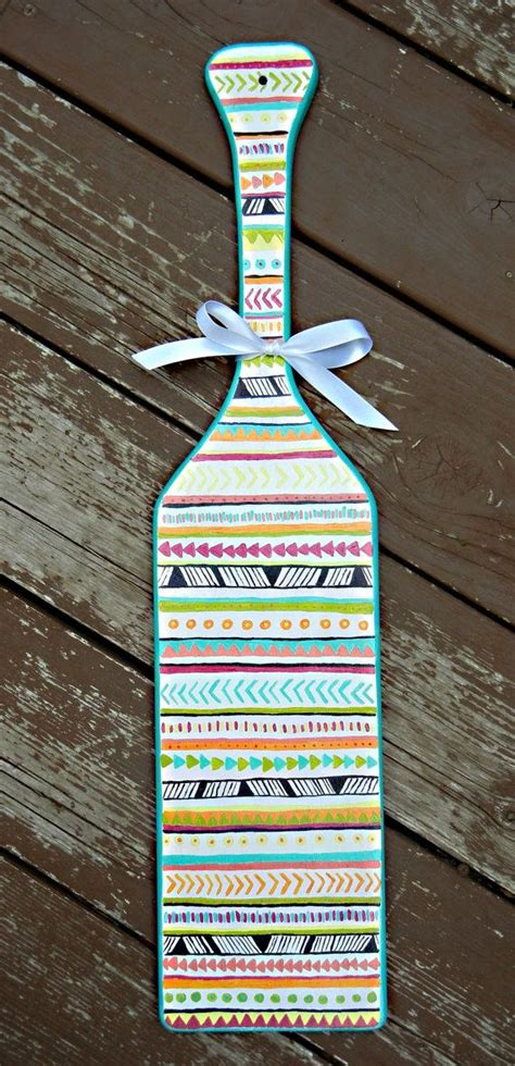 tribal pattern paddles tribal print sorority paddle customizable and hand painted
