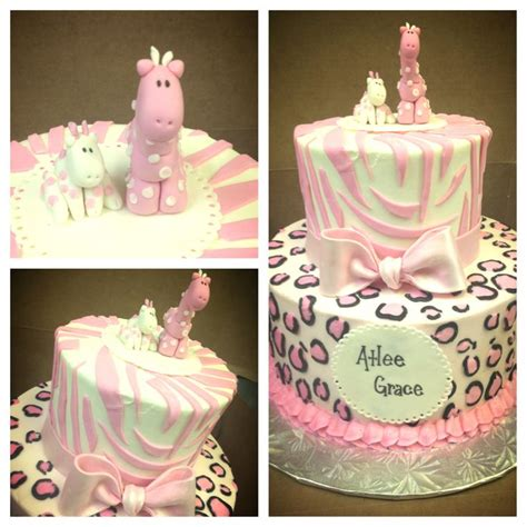 Pink Safari Baby Shower Decorations by Pink Safari Baby Shower Cake Cakes Done By Me