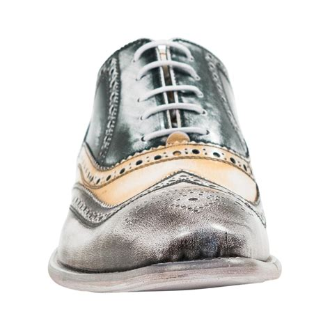 isaac brown spray paint effect nappa leather wingtip