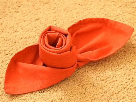 Fancy Paper Napkin Folding - how to make a out of a cloth napkin 8 steps with