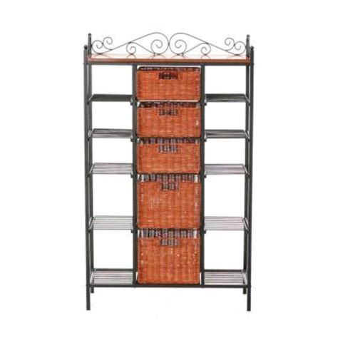 Bakers Rack Home Depot by Home Decorators Collection Manilla Steel 31 1 2 In W