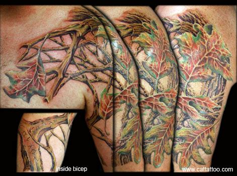 camo tattoo half sleeve cat tattoo tattoos nature woodland camo