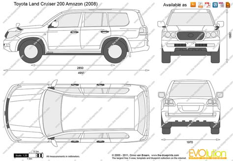 Toyota Land Cruiser Interior Dimensions by The Blueprints Vector Drawing Toyota Land Cruiser