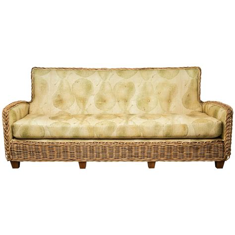 furniture works upholstery wicker works rattan sofa with belgin linen upholstery at
