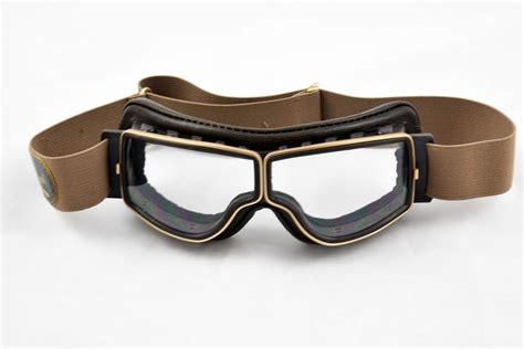 Motorradbrille Retro Pilot T2 by Aviator Retro Goggles Quot T2 Quot Brown Gold Clear