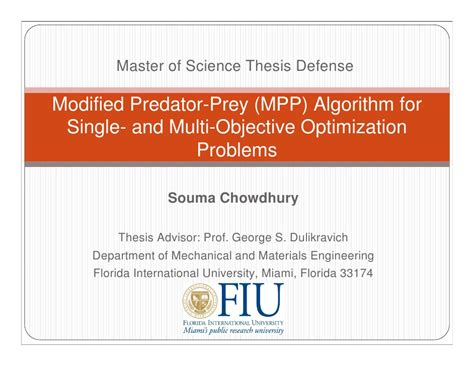 Master Of Science Thesis Defense Souma Fiu Powerpoint Templates For Thesis Defense