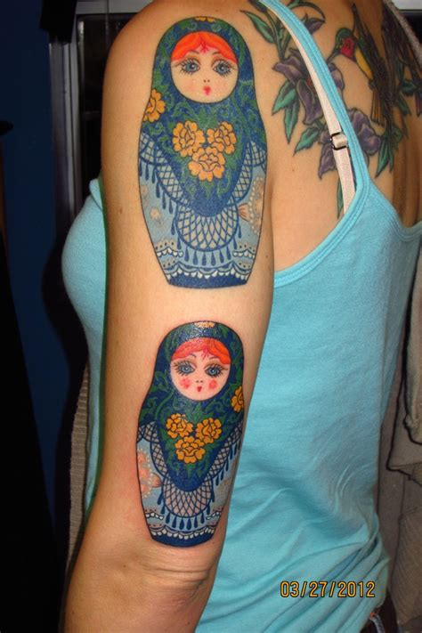 russian nesting doll tattoo matryoshka russian nesting dolls by paul