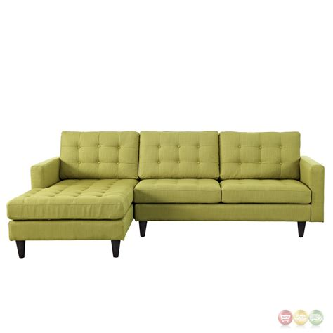 Tufted Sectional Sofa Empress Left Facing Button Tufted Upholstered Sectional Sofa Wheatgrass