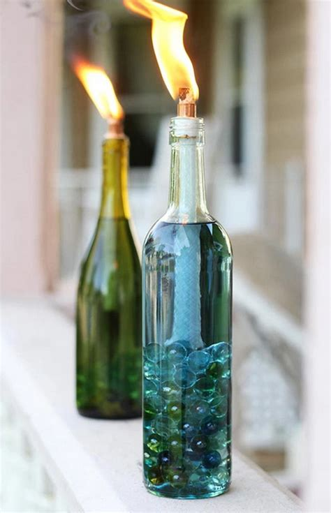 home decor with wine bottles 40 wine bottle decoration ideas hobby lesson