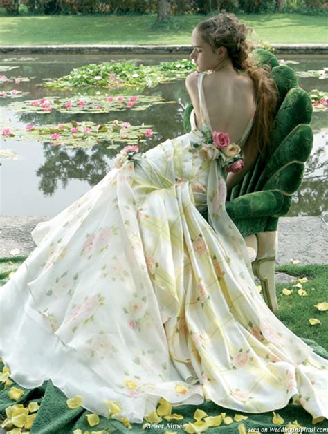 Garden Wedding Flower Dresses by Atelier Aim 233 E Bridal Dress Collections Wedding Inspirasi