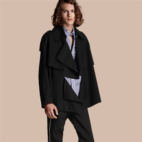 Trench Jacket cotton gabardine deconstructed trench jacket burberry