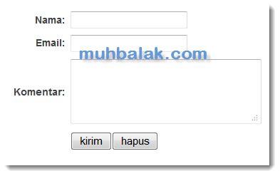 membuat form kontak dengan html dan php membuat sendiri form kontak via email dengan html muhbalak