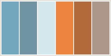 what color goes with rust colorcombo428 with hex colors 74a6bd 7195a3 d4e7ed