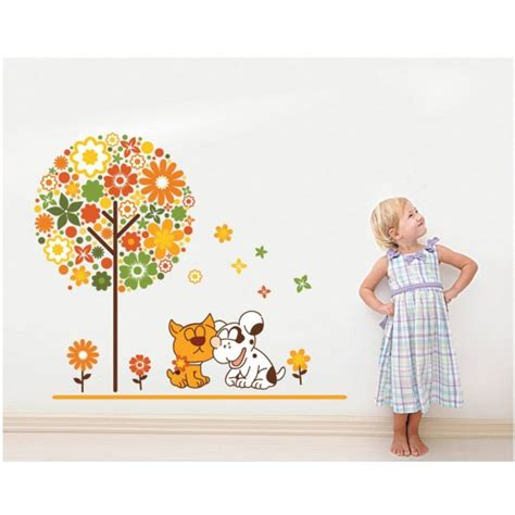 size wall stickers happy animals wall sticker 80x70cm size jm8248