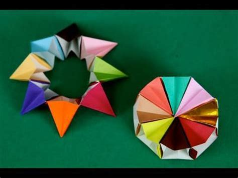 Magic Circle Origami - ruota corona 8 pezzi origami origami magic circle