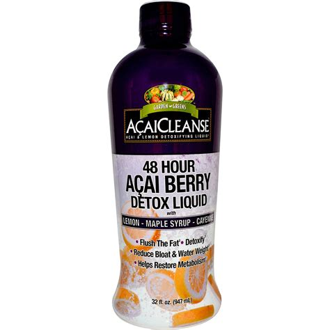 Liquid Detox by Garden Greens Acaicleanse 48 Hour Acai Berry Detox