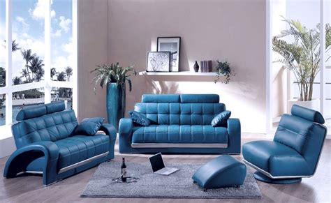 Blue Leather Chair And Ottoman Design Ideas Decorating A Room With Blue Leather Sofa Traba Homes