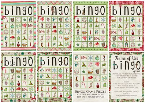 printable holiday bingo games christmas bingo games pinterest myideasbedroom com