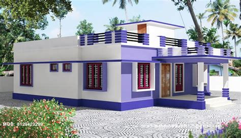 home parapet designs kerala style kerala single story house model home design