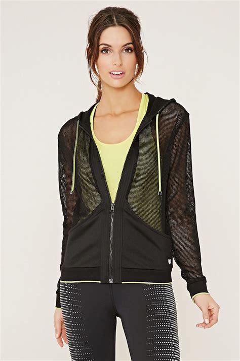 Hooded Mesh Jacket active hooded mesh jacket activewear jackets hoodies