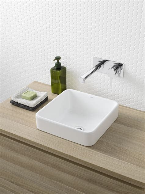 inset basins bathrooms caroma cube 320 inset basin http www caroma com au