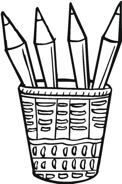 colored pencil coloring pages colored pencil clipart black and white clipartsgram
