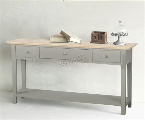 kitchen side table with drawers foxhunter console table 3 drawers wood hallway side