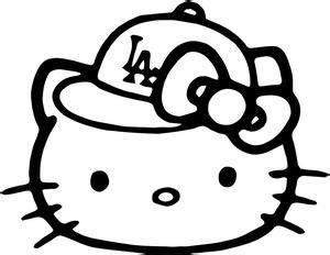 hello kitty baseball coloring pages hello kitty la dodgers