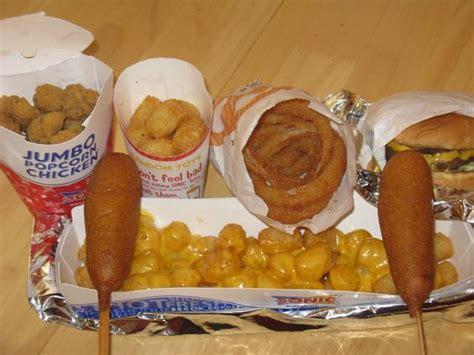 sonic corn calories sonic drive in late feast corn dogs cheeseburger
