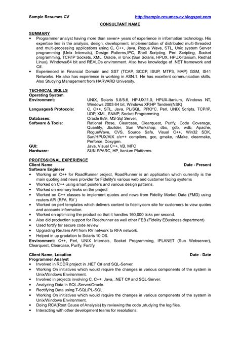java technical lead resume allfinance zone