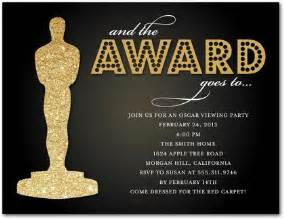 oscar s honors party invitation postcards in black