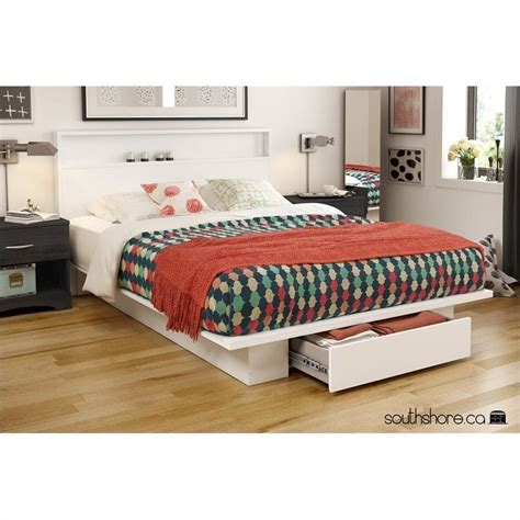 south shore bed frame south shore platform bed with drawer in