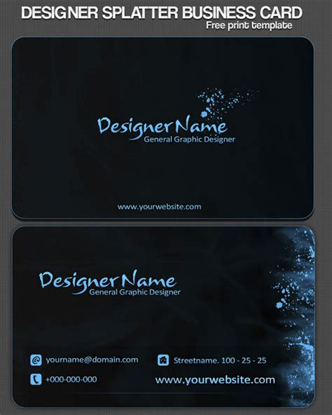business card printing template psd best business cards