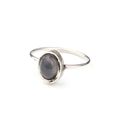 grey moonstone sterling silver ring by amelia may