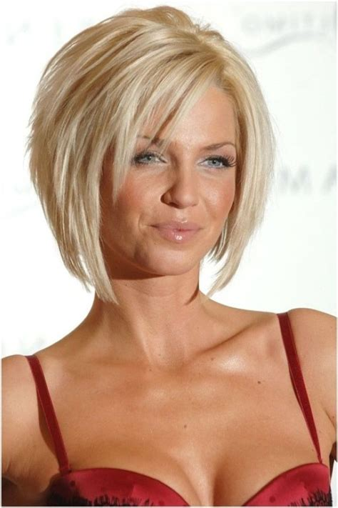 Lagerte Bob Frisur für blondes Haar   Frisuren
