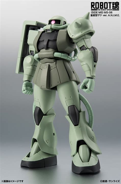 Haro Collection Gundam Green Zeon Zaku robot damashii mass production type ms 06s zaku ii ver a n i m e collectiondx