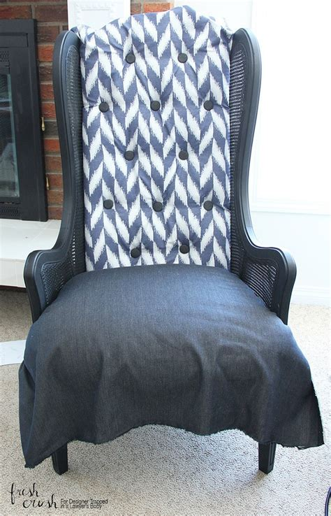 On A Chair - learn how to upholster a chair wingback chair makeover