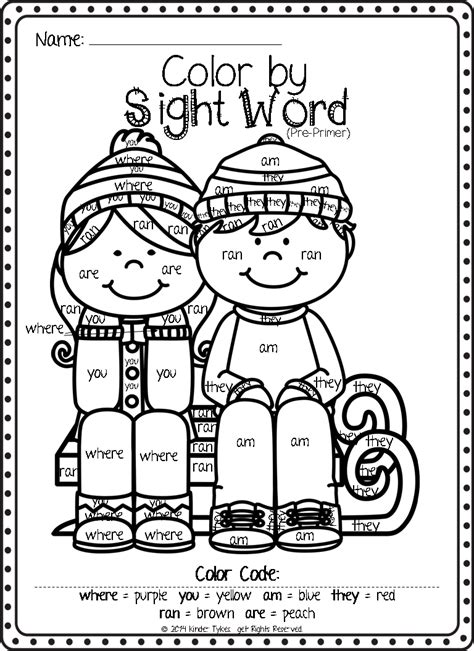 coloring page with sight words sight word coloring pages coloringsuite com