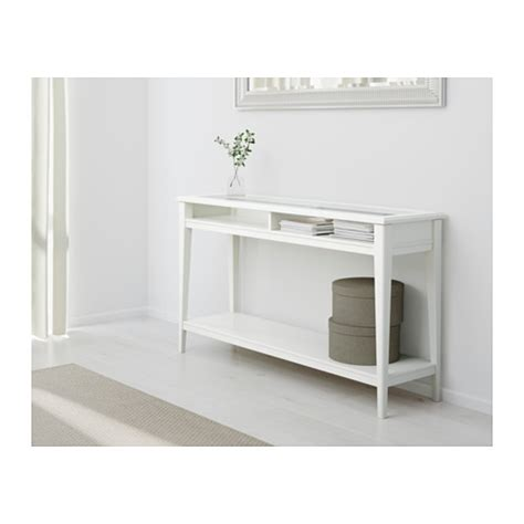White Console Table Liatorp Console Table White Glass 133x37 Cm Ikea