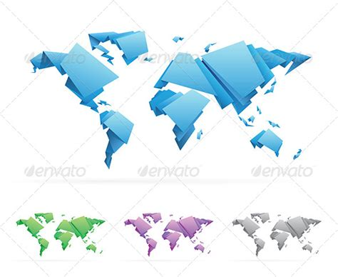 Origami World - origami graphic illustration 187 tinkytyler org stock