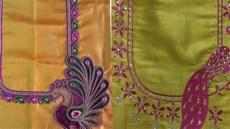 Simple Aari Work Blouse Designs Simple Work On Blouses For