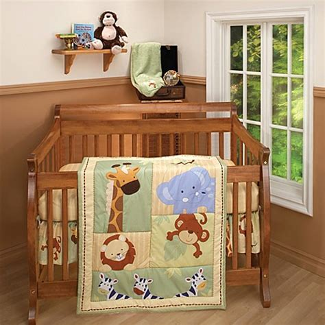 jungle nursery bedding sets buy nojo 174 bedding safari 3 crib bedding set from bed bath beyond